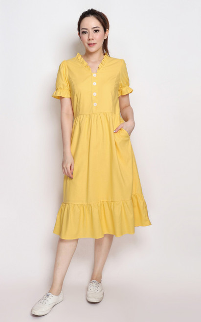 Sunshine Linen Midi Dress
