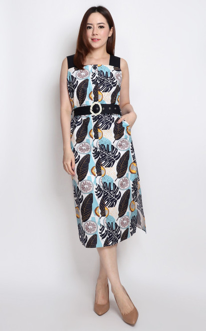 Tutti Frutti Midi Dress - Black