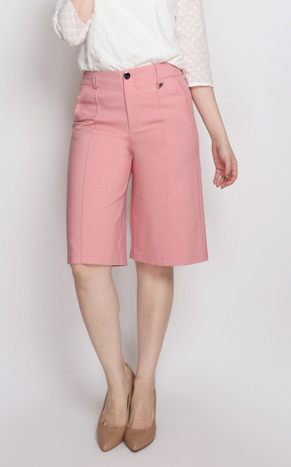 Cropped Culottes - Pink