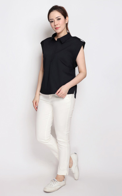Structured Shirt - Midnight Blue