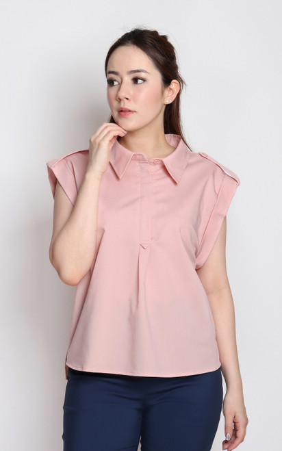 Structured Shirt - Dusty Pink