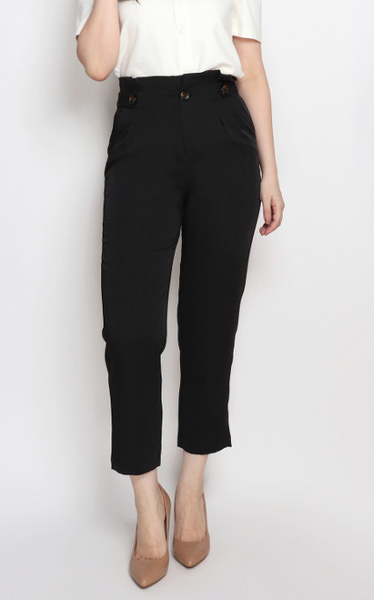 Paperbag Pants - Black