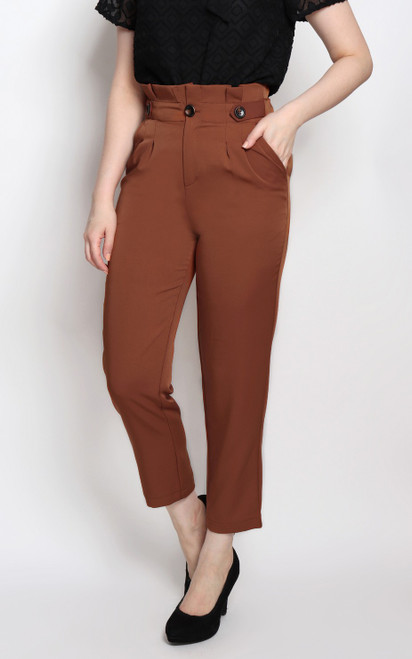 Paperbag Pants - Chestnut