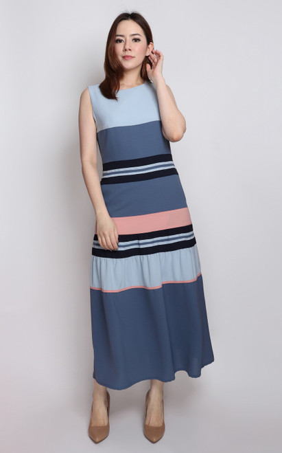 Colourblock Midi Dress