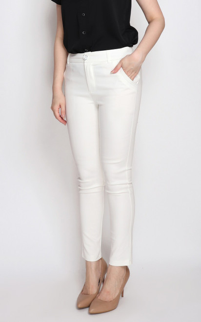 Pencil Pants - White