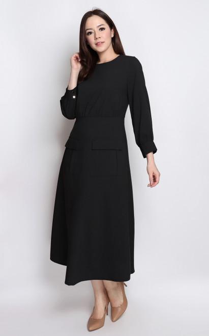 Pockets Midi Dress