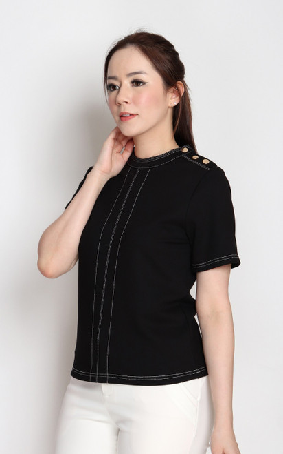 Contrast Stitch Top