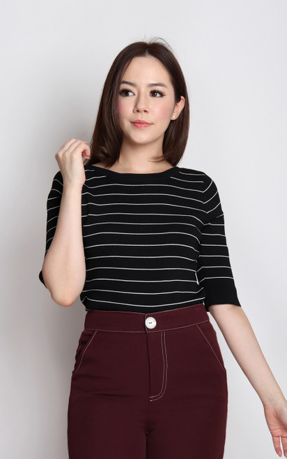 Striped Knit Top