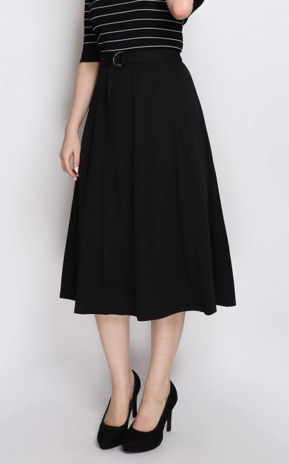 D-Ring Flare Skirt - Black