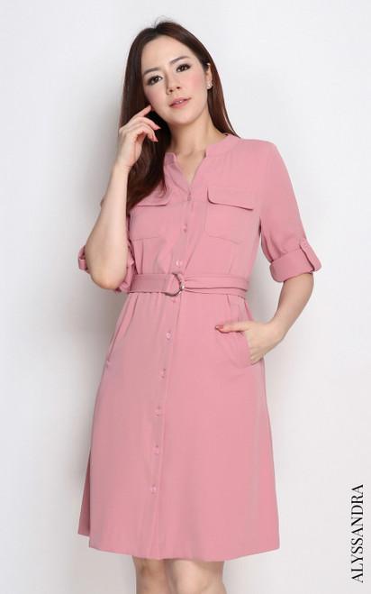Utility Dress - Rose Pink