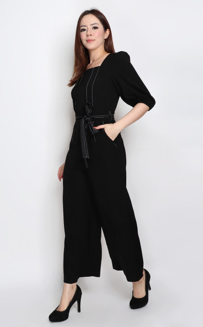Pintuck Jumpsuit - Black