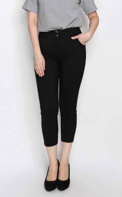 Skinny Cigarette Pants - Black