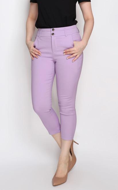 Skinny Cigarette Pants - Lilac