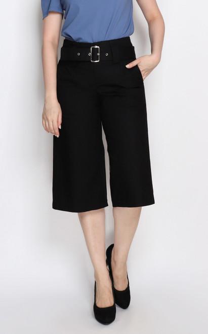 Belted Culottes - Black