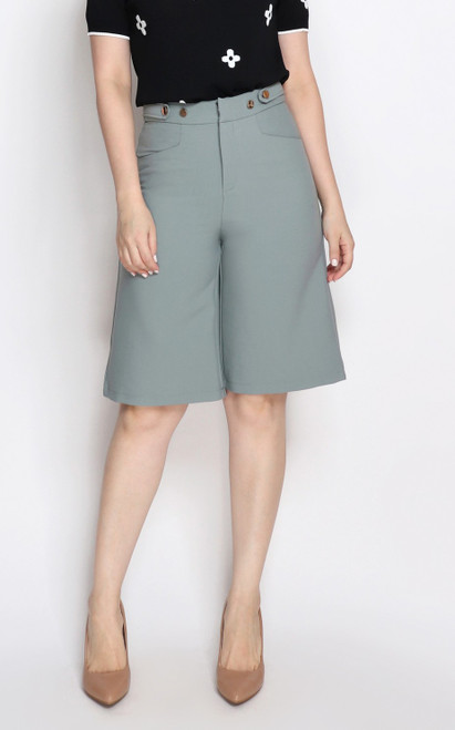 Cropped Culottes - Sage