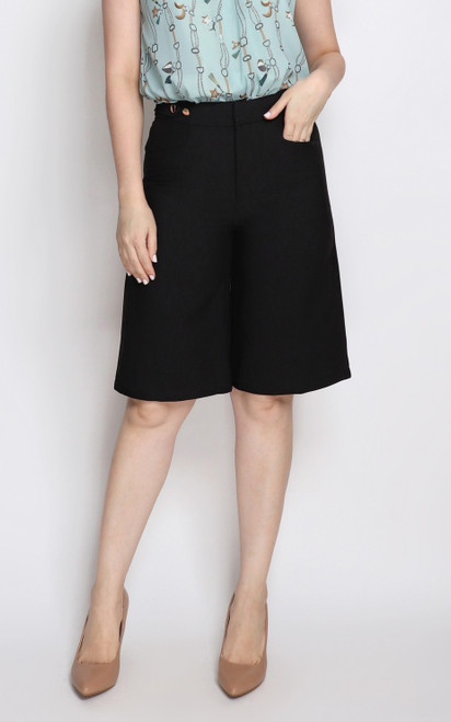 Cropped Culottes - Black