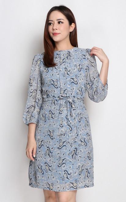 Paisley Print Chiffon Dress