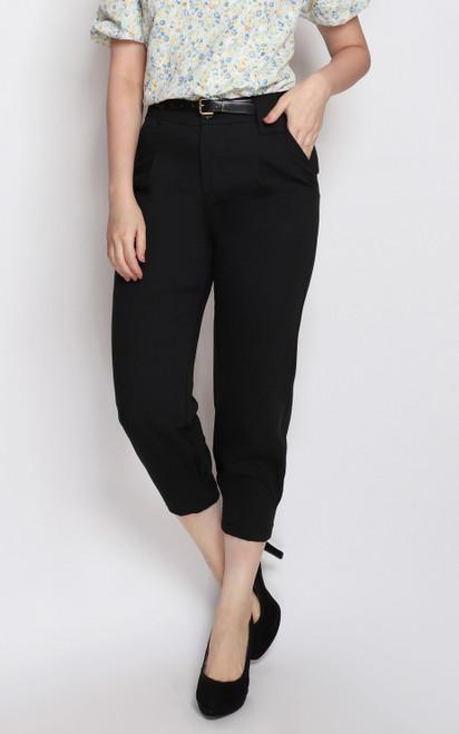 Side Tuck Pants - Black