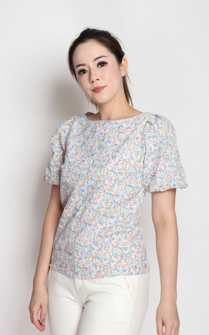 Floral Embroidery Blouse - Pink