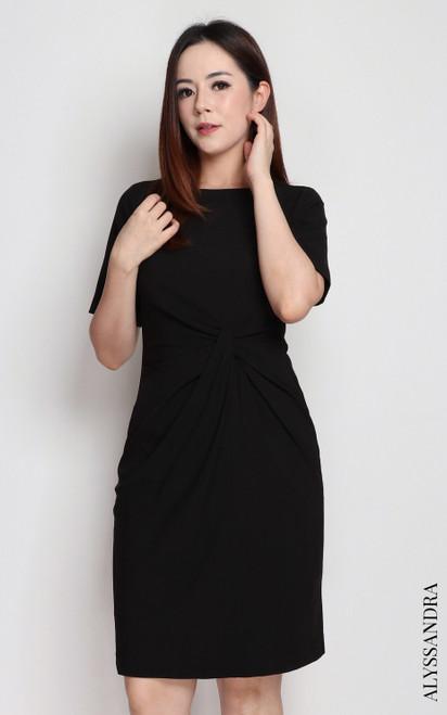 Side Knot Dress - Black