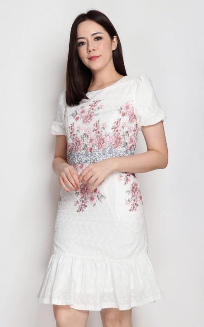 Floral Waist Dress - Pink