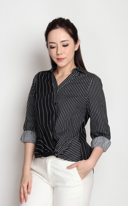 Stripe Knotted Shirt