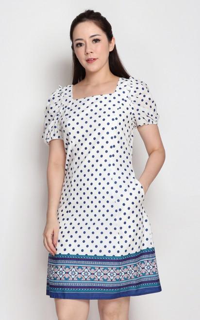 Polka Dot Tile Hem Dress