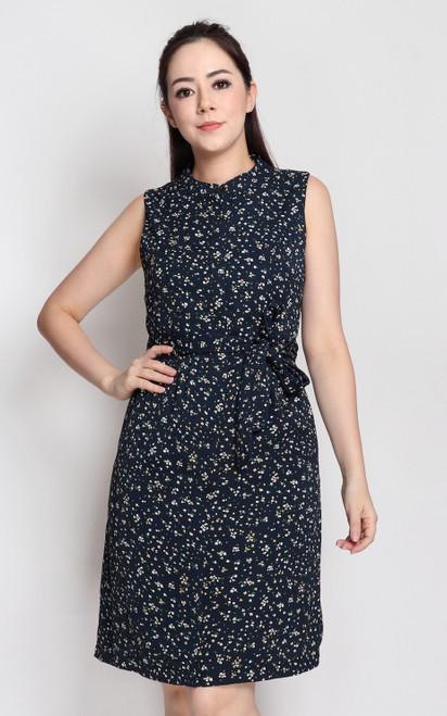 Petite Fleur Button-Up Dress