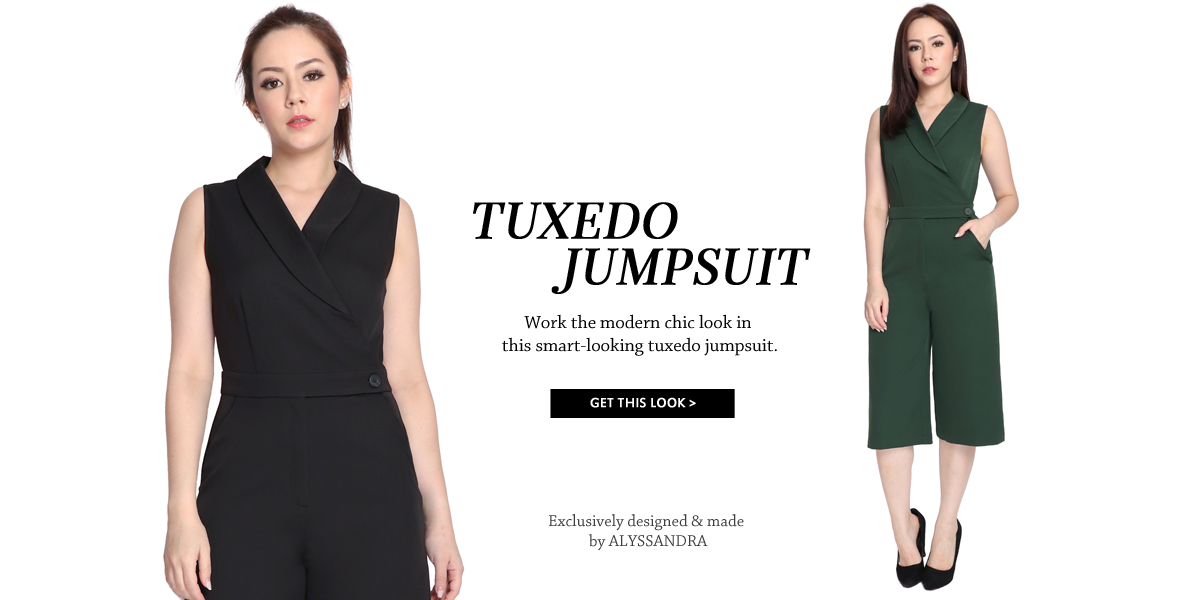 Tuxedo Culottes Jumpsuit