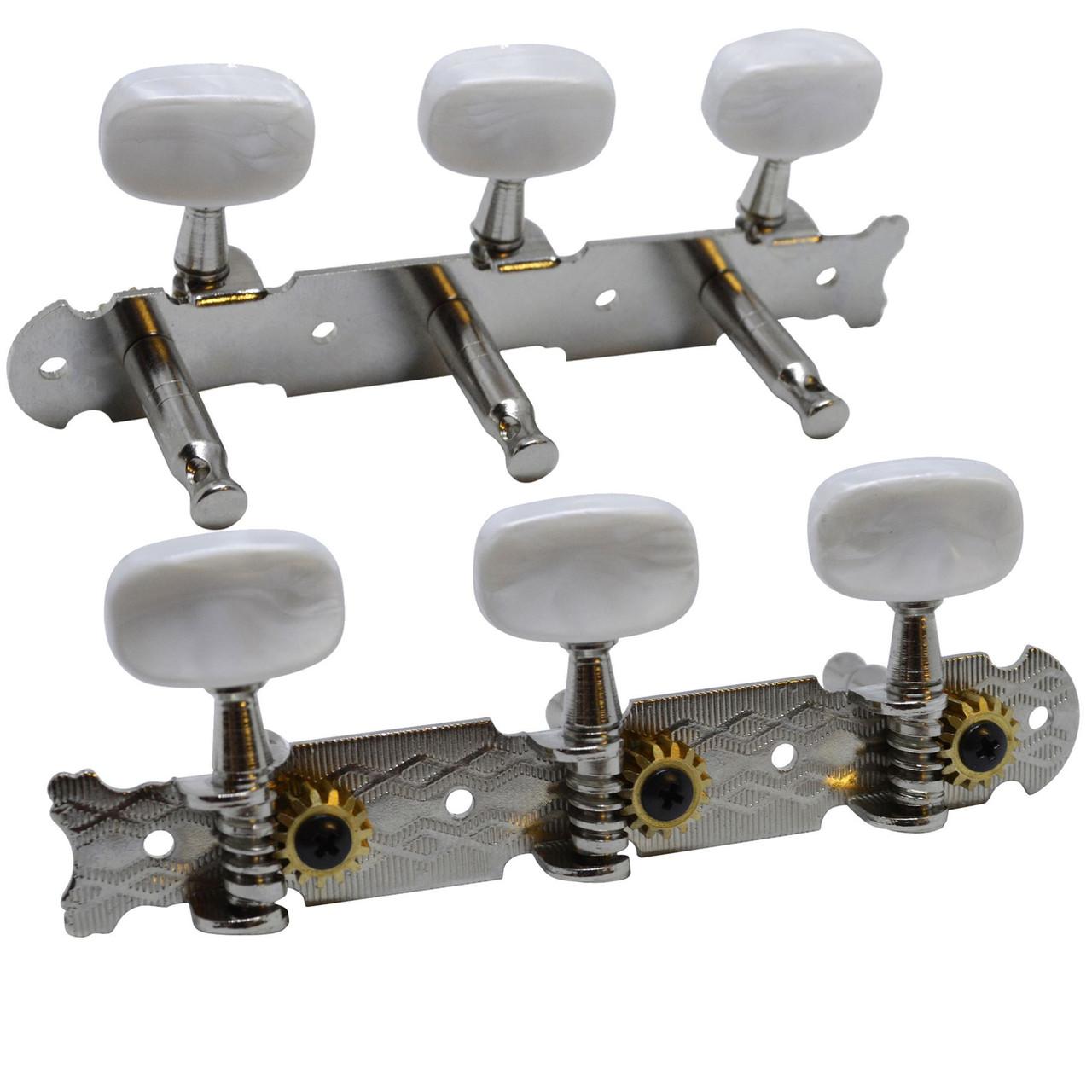 Classical Guitar Machine Heads Tuners Nickel 3 X 3