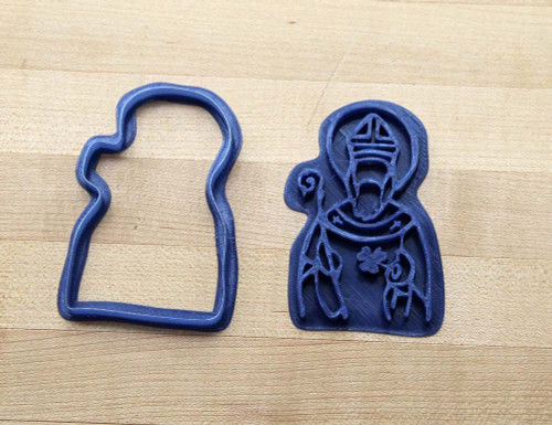 Saint Patrick 3D Printed Cookie Cutter   Catholic Cookie, Feast Day, Christian