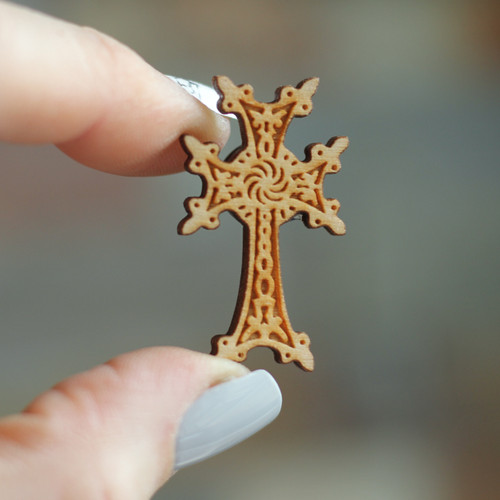 Laser Cut Pin: Armenian Cross