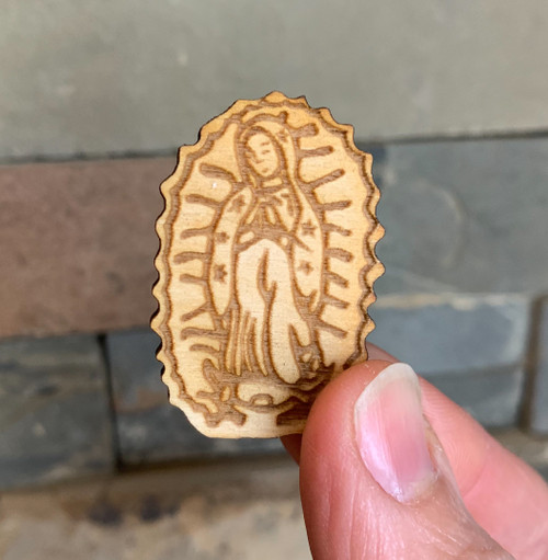 Laser Cut Pin: Our Lady of Guadalupe