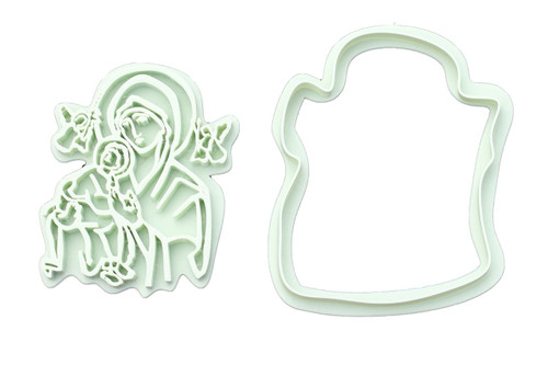 Our Lady of Perpetual Help 3D Printed Cookie Cutter | Catholic Cookie, Christian