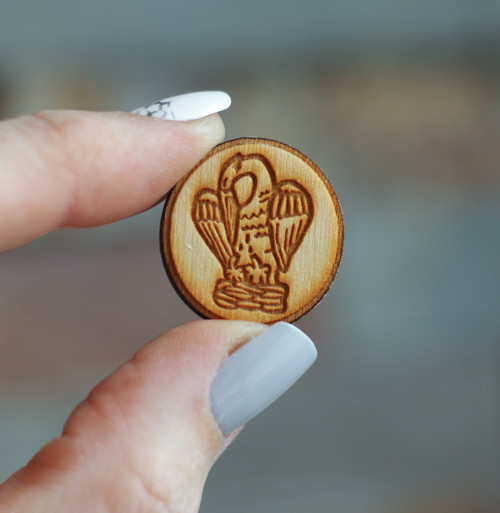 Laser Cut Pin: Pelican | Christ as Pelican