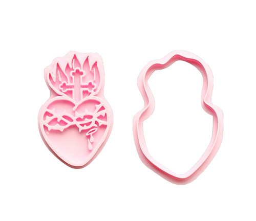 Sacred Heart 3D Printed Cookie Cutter |  Catholic Cookie, Christian