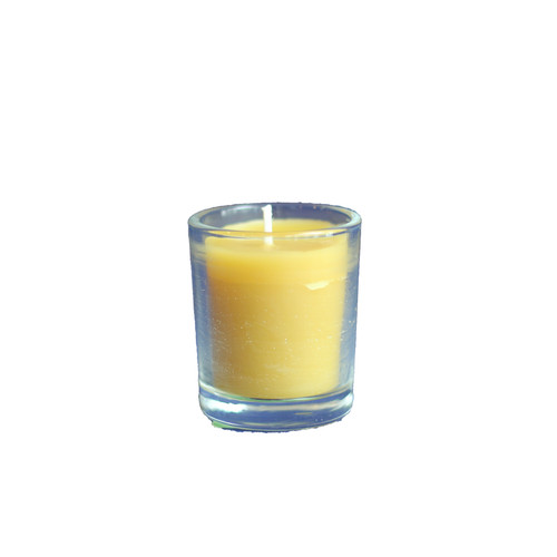 100% Beeswax Chrism-scented Candle Small Votive with no design