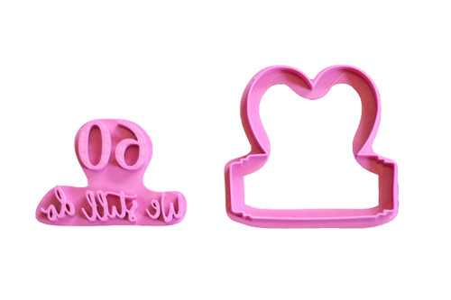 60th Anniversary 3D Printed Cookie Cutter