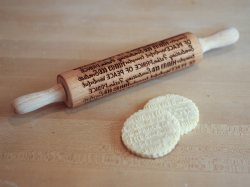 Isaiah 9:5 Advent Laser Engraved Rolling Pin