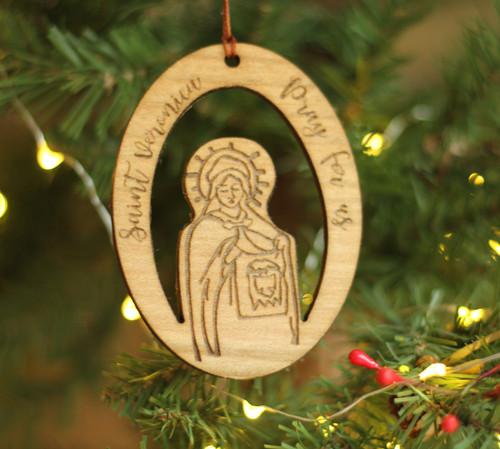 Saint Veronica Laser Cut Ornament