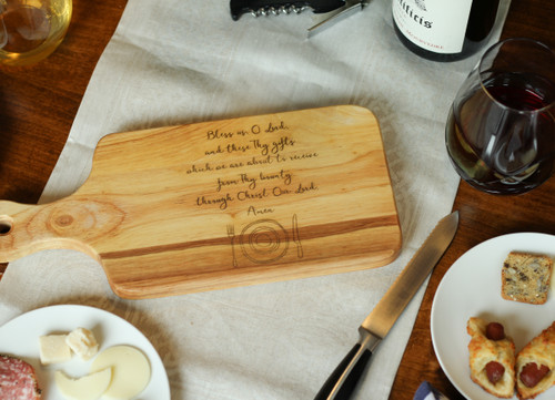 English Prayer Before Meals Cutting Board