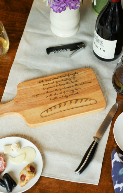 Blessing of Bread Cutting Board
