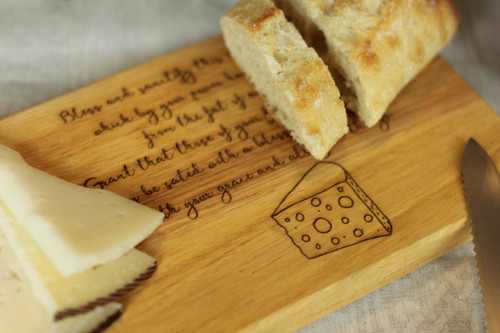 Blessing of Cheese Cutting Board