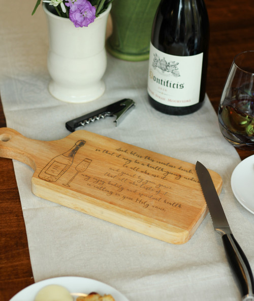 Blessing of Wine Cutting Board