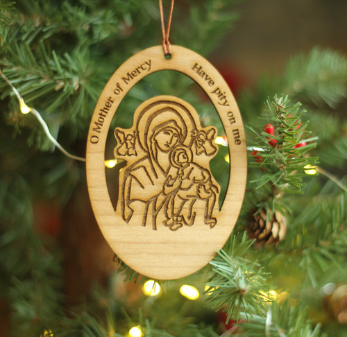 Our Lady of Perpetual Help Laser Cut Ornament