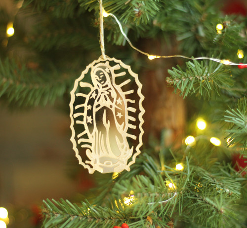 Our Lady of Guadalupe Laser Cut Acrylic Ornament