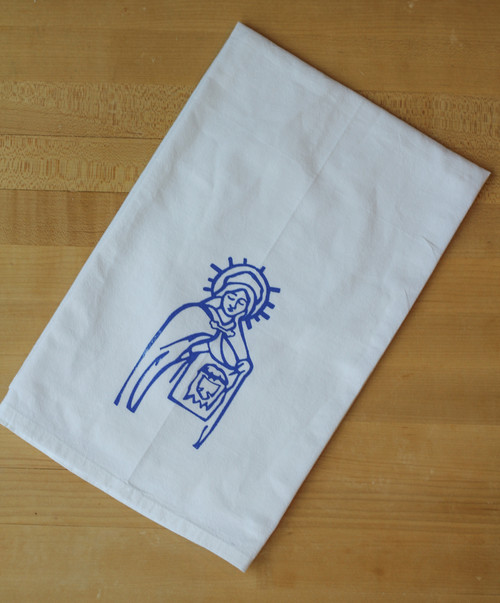 Saint Veronica Flour Sack Towel