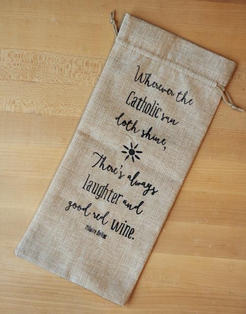 Belloc Catholic Sun Wine Gift Bag