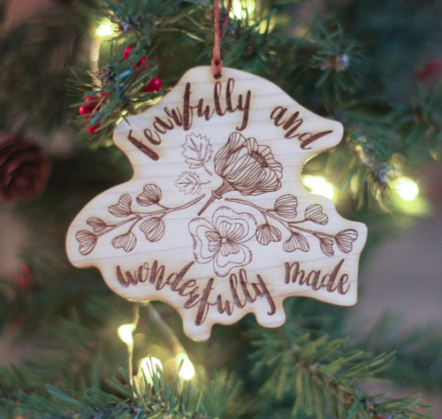 Fearfully and Wonderfully Made Laser Cut Ornament