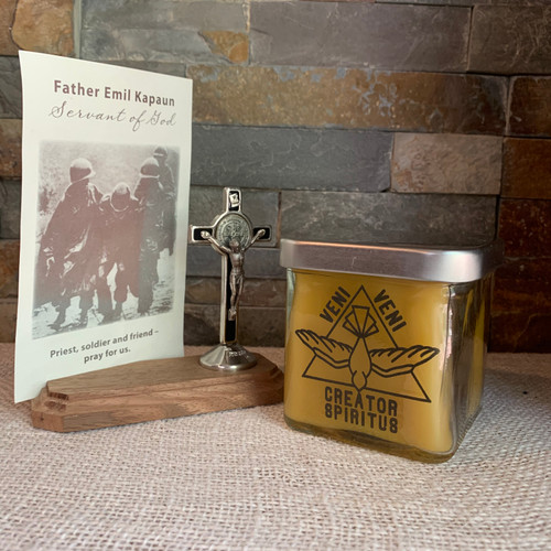 100% Beeswax Chrism-scented Candle Jar Holy Spirit